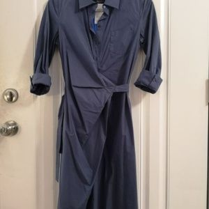 MaxMara Weekend Blue Shirt Dress NWT Sz 6
